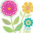 16 Servietten Sommer Blumen