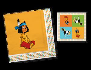 52 Teile Yakari Indianer Party Deko Basis Set - für 16 Kinder – Bild 4