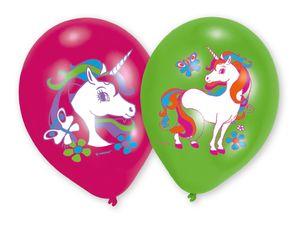 6 Luftballons Regenbogen Einhorn – Bild 1
