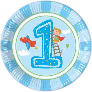 8 Teller 1. Geburtstag Junge – Bild 1