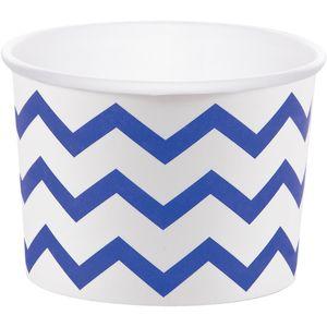6 kleine Dessert oder Eisbecher Cobalt Blau