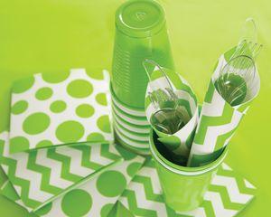 8 kleine Papp Teller Fractals Limonen Grün – Bild 3
