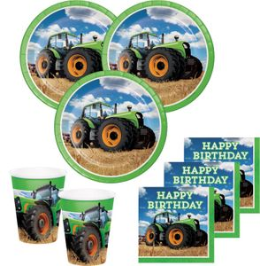 32 Teile Traktor Geburtstags Party Deko Set 8 Personen – Bild 1