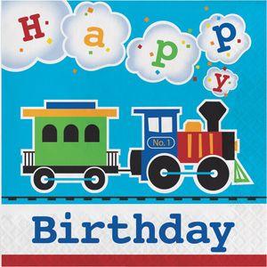 16 Geburtstags Servietten Eisenbahn Party – Bild 1