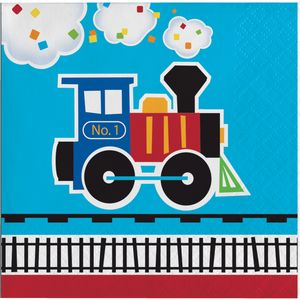 16 kleine Servietten Eisenbahn Party – Bild 1