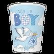 8 Becher Baby Storch Blau