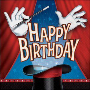16 Geburtstags Servietten Magier und Zauberer