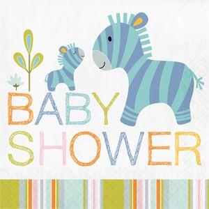 16 Servietten Baby Safari zum Babyshower
