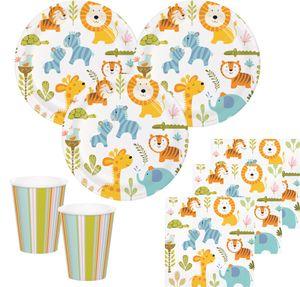 8 Einladungskarten Baby Safari – Bild 2
