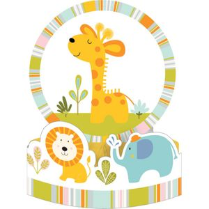 XXL 112 Teile Baby Safari Blau Baby Shower Party Deko Set für 16 Personen - Junge – Bild 4