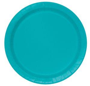 8 kleine Teller Karibik Blau