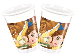 8 Becher Disney Belle aus Beauty and the Beast
