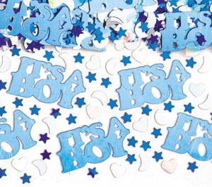 67 Teile Baby Shower Deko Set Storch Hellblau 16 Personen – Bild 5