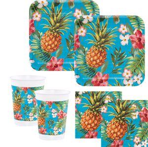8 Teller Ananas Party – Bild 2