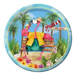 8 kleine Teller Flamingo Fun – Bild 1
