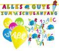 Girlande + Luftballons + Streudeko zum Schulanfang