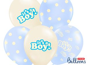 XXL 79 Teile Baby Shower Deko Set Storch Hellblau 16 Personen - Babyparty Junge – Bild 5