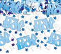 XXL 79 Teile Baby Shower Deko Set Storch Hellblau 16 Personen - Babyparty Junge