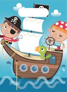 XXL 68 Teile Piraten Kinder Party Deko Set 6-8 Kinder – Bild 6