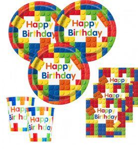 48 Teile Bausteine Geburtstags Party Set für 16 Kinder – Bild 1