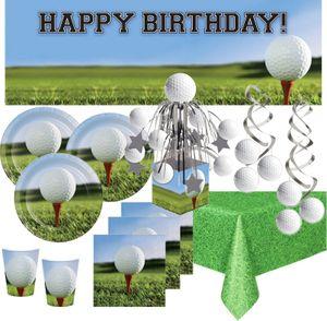 XXL 37 Teile Golf Party Deko Set 8 Personen