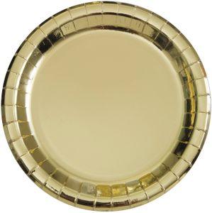 8 Papp Teller Gold Glanz – Bild 1