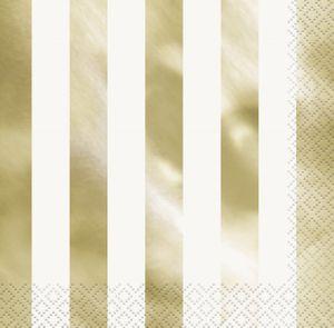 32 Teile Party Deko Set Gold Glanz für 8 Personen – Bild 4