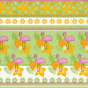 16 Servietten Tropical Flamingo