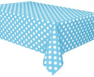 Tischdecke Hellblau mit Punkten