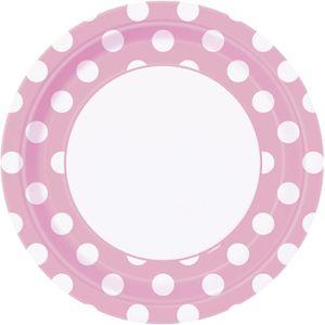 50 Teile Party Set Baby Rosa mit weißen Punkten für 16 Personen – Bild 2