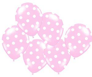 XXL 60 Teile Party Deko Set Baby Rosa Punkte für 8 Personen – Bild 4