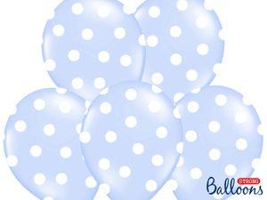 XXL 60 Teile Party Deko Set Hellblau Punkte für 8 Personen – Bild 6
