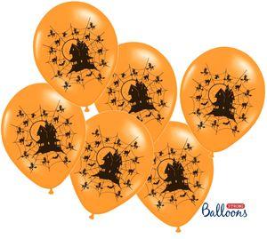 6 Halloween Luftballons Geister Haus