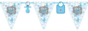 XL 67 Teile Baby Shower Deko Set Storch Hellblau 16 Personen – Bild 3