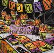 Halloween Geisterhaus Wegweiser Pappschild