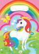 8 Party Tütchen Regenbogen Einhorn