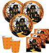 8 Halloween Papp Teller Spukschloß