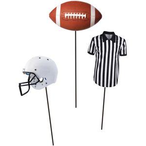 3 Kuchen oder Deko Stecker American Football Superbowl