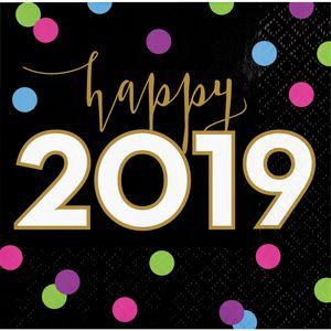 XXL 62 Teile 2019 Silvester Happy New Year Cheers Deko Set für 8 Personen – Bild 3