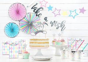 3 hängende Dekofächer Pastell Farben mit Silber Rand – Bild 2