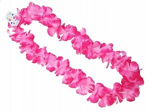 Hawaii Kette Blumenkette in Pink