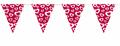 XXL 44 Teile Valentinstags Herzchen und Blumen Deko Set 8 Personen Herzen Valentinstag