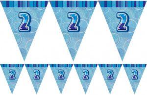 XXL 80 Teile Zweiter Geburtstag Deko Set Pinguin Junge in Hellblau und Silber 16 Personen 2. Geburtstag – Bild 4