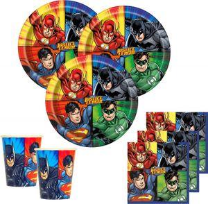 32 Teile Justice League Superhelden Party Deko Basis Set - für 8 Kinder – Bild 1
