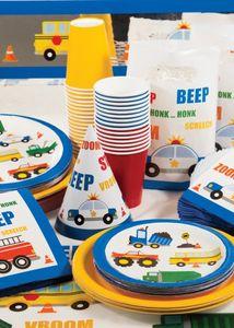 XL 44 Teile Fahrzeug Stau Party Deko Set für 8 Kinder – Bild 7