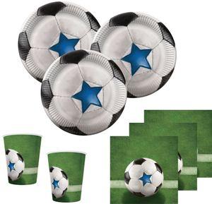 [Paket] XL 59 Teile Fußball Halbzeit Party Deko Set für 16 Personen