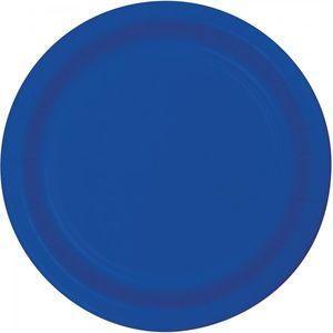 24 kleine Papp Teller Cobalt Blau
