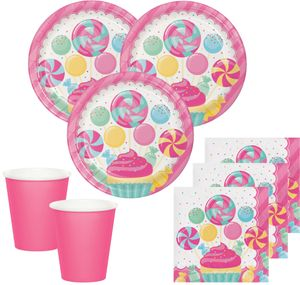 8 Party Tüten Rosa Lollie – Bild 2