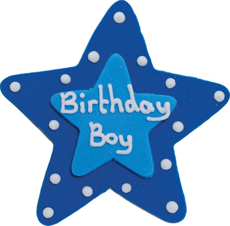 Zucker Stern Birthday Boy Plakette 75 Cm