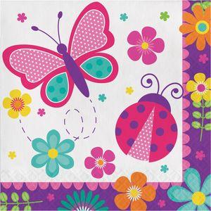 16 Servietten Schmetterling im Garten